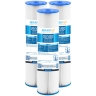 "20"" x 4.5"" Whole House Big Blue Pleated Sediment Water Filter Replacement Cartridge for Rain Water Tank or Wholehouse"