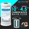 "Whole House Water Filter System Carbon 10"" Big Blue replacement filter"