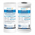 Compatible with Puretec WH2 30 Replacement Water Filters Sediment PX05MP1, Carbon Block CB10MP1