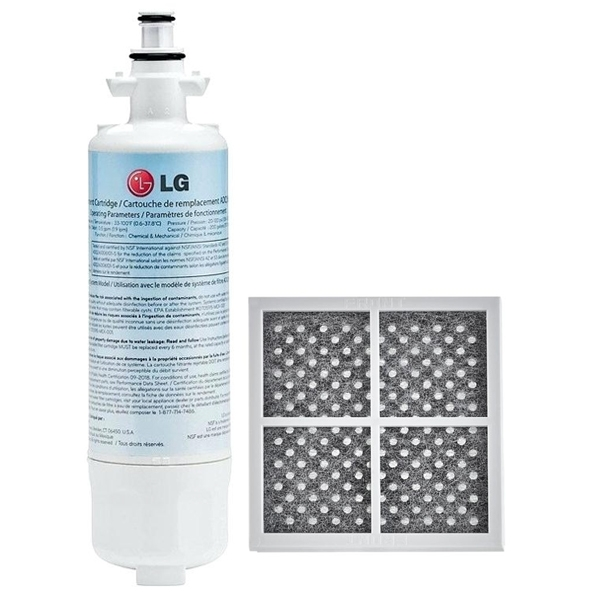 LG ADQ36006101 LT700P Genuine Fridge Filter + Air Filter LT120F