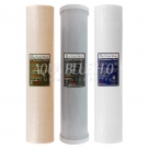 "20""X4.5"" Replacement Cartridge Pack - PP Sediment supported with NANO-ZINC, Activated Carbon Block, Sediment Filter"