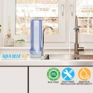 Countertop Clear Housing Drinking Water Filter System with Polyspun Sediment Water Filter Cartridge 10""