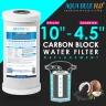 "Twin Whole House Replacement Water Filter Set Polyspun + CTO  10""X4.5"""