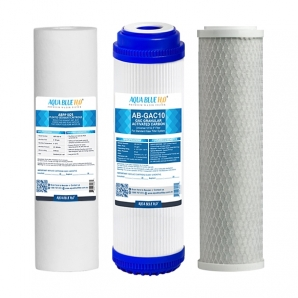 "Undersink 3 Stage Water Filter 10"" GAC - Complete Set"
