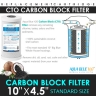 "10"" x 4.5"" Twin Big Blue Whole House Water Filter System 2 stages"