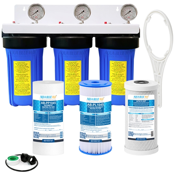 3 Stage Big Blue Whole House System with Replacement Cartridge
