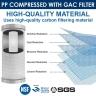 Puretec DP101 Dual Carbon Water Filter Cartridge 2.5 x 10 inch 10 Micron
