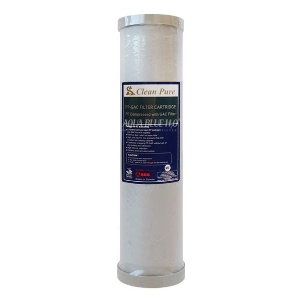 AQUA BLUE H20   Dual Carbon Water Filter Cartridge 2.5 x 10 inch