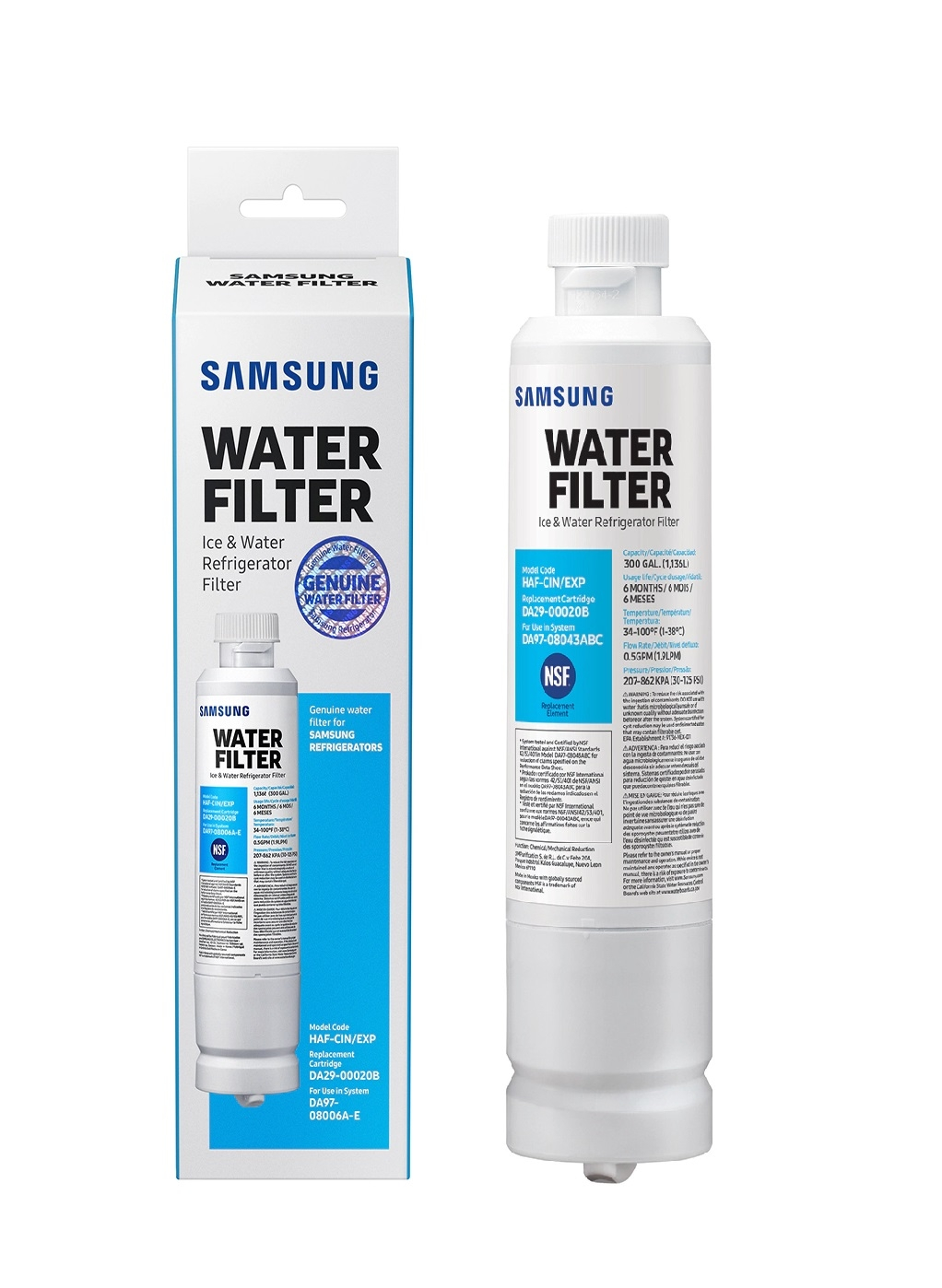 DA29-00020A/B DA29-00020B-1 HAF-CIN/EXP  Samsung Genuine Fridge filters