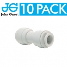 John Guest White Polypropylene Fittings Equal Straight Connector PPM0408W  8MM