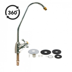 Faucet E_Chrome Drinking Water Filter Tap - Brass Finish - RO Tap