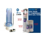 Countertop Clear Housing Drinking Water Filter System with Omnipure OMB934 1 Micron Carbon Block