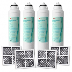 4x LG Genuine Internal  filter  M7251242FR-06 with 4x Air Filters LT120F