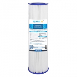 """Puretec replacement 10"""" Pleated Sediment Cartridge 1 Micron Water Filter ABPL1025"""