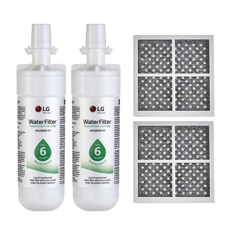 2x LG Genuine Fridge filter LT700P and 2x LG LT120F Air filter