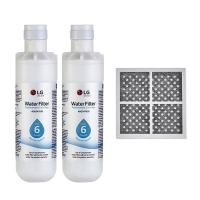 2x LG LT1000P MDJ64844601 ADQ74793501 water filter with LG fridge air filter LT120F ADQ73334008