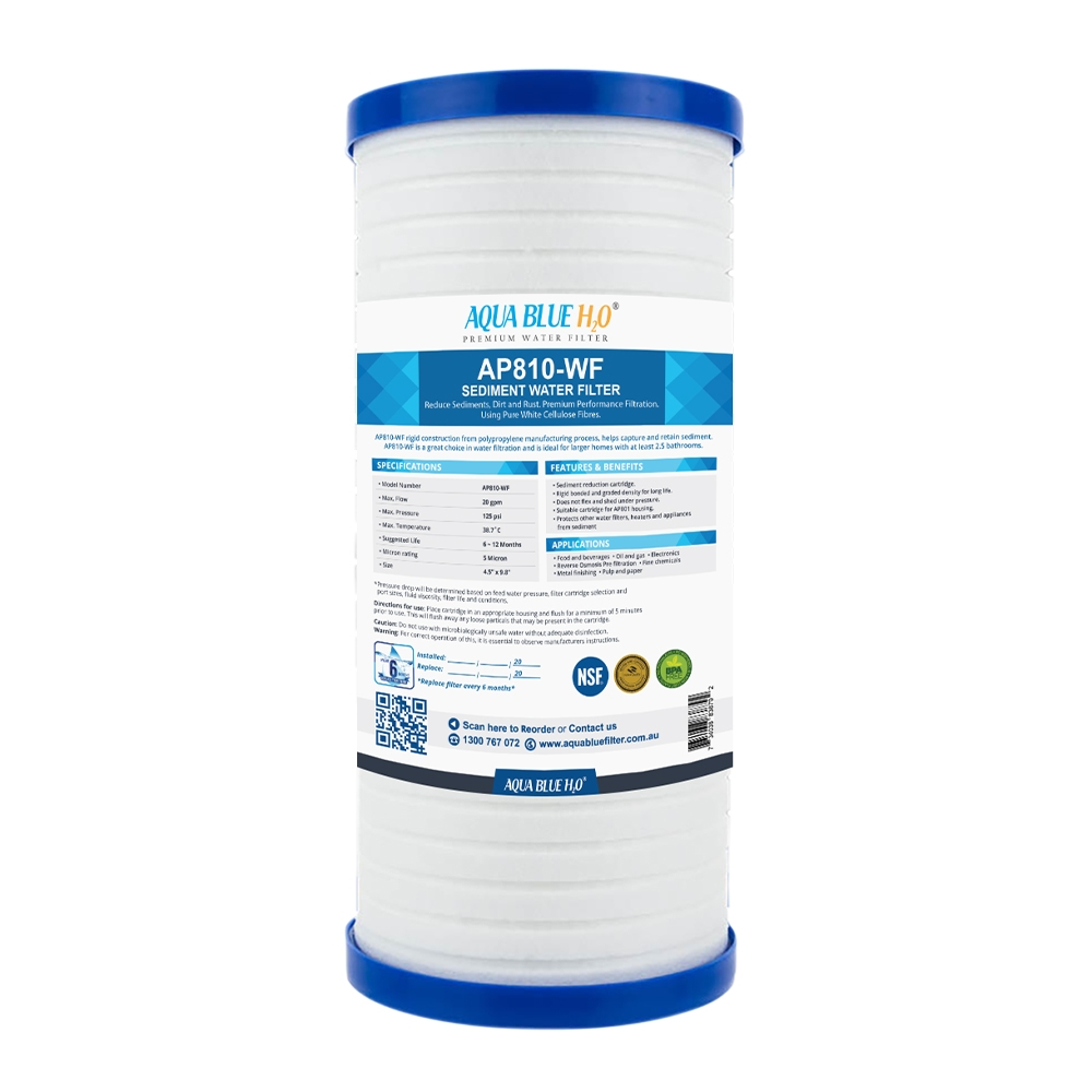 AQUA BLUE H20 AP810-WF  5 Micron AP810, AP810-1, 70020164177 fits to AP801or AP801-1 System