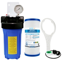 Rain Water Tank Filter system BIG Blue UV residence with AP810-WF 5 Micron Sediment Filter