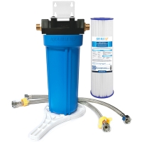 """Single Water Filter System for Homes and Offices 10""""X2.5"""" Washable Pleated Sediment Filter"""