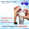 4x LG EXTERNAL INLINE  WATER FILTERS BL9808, 3890JC2990A, WITH PUSH  in FIT