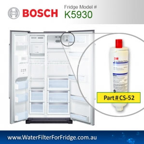 K5930 Fridge Filter Bosch CS-52 Internal Fridge Water Filter Cuno 3M USA Genuine