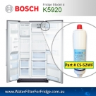 K3990 Bosch Fridge Model 640565 3M CS-52 Premium Water Filter by Aqua Blue H20