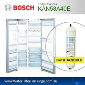 Bosch Fridge Model KAN58A40E Compatible External In-Line Water Filter Replacement (DA2010CB) by Aqua Blue H2O