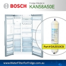 Bosch Fridge Model KAN58A40I Compatible External In-Line Water Filter Replacement (DA2010CB) by Aqua Blue H2O