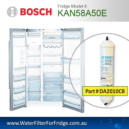 Bosch Fridge Model KAN58A50E Compatible External In-Line Water Filter Replacement (DA2010CB) by Aqua Blue H2O