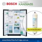 Bosch Fridge Model KAN58A50E Compatible External In-Line Water Filter Replacement (DA2010CB) by Aqua Blue H2O