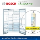 Bosch Fridge Model KAN58A70AU Compatible External In-Line Water Filter Replacement (DA2010CB) by Aqua Blue H2O