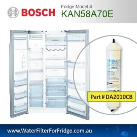 Bosch Fridge Model KAN58A70E Compatible External In-Line Water Filter Replacement (DA2010CB) by Aqua Blue H2O