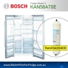 Bosch Fridge Model KAN58A70AU Compatible External In-Line Water Filter Replacement (DA2010CB) by Aqua Blue H2O