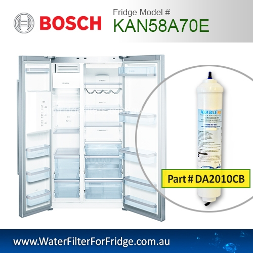 Bosch Fridge Model KAN58A70E Compatible External In-Line Water Filter Replacement (DA2010CB) by Aqua Blue H2O