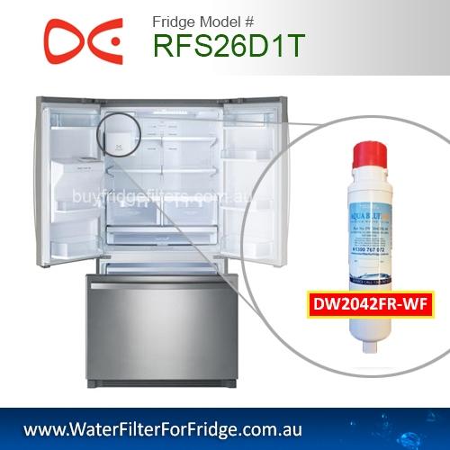Daewoo Fridge Model RFS26D1T Aqua Blue H2O DW2042FR-09-WF Daewoo Smeg Westinghouse Replacement Cartridge