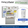 FISHER AND PAYKEL 836848 for RF610ADUM  GENUINE FRIDGE WATER FILTER