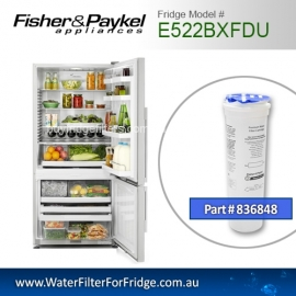 Fisher & Paykel 836848 for E522BXFDU Genuine Fridge Water Filter