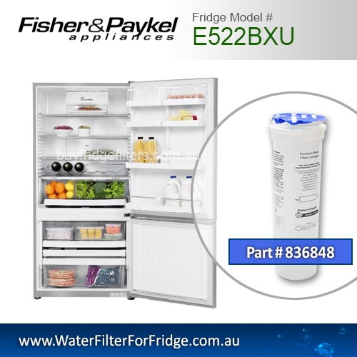 Fisher & Paykel 836848 for E522BXU Genuine Fridge Water Filter