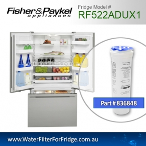 Fisher & Paykel 836848 for RF522ADUX1 Genuine Fridge Water Filter
