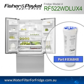 Fisher & Paykel 836848 for RF522WDLUX4 Genuine Fridge Water Filter