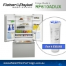 FISHER AND PAYKEL 836848 for RF610ADUSX4 GENUINE FRIDGE WATER FILTER