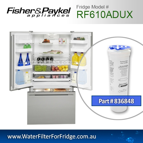 Fisher & Paykel 836848 for RF610ADUX Genuine Fridge Water Filter