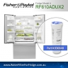 FISHER AND PAYKEL 836848 for RF610ADUX GENUINE FRIDGE WATER FILTER