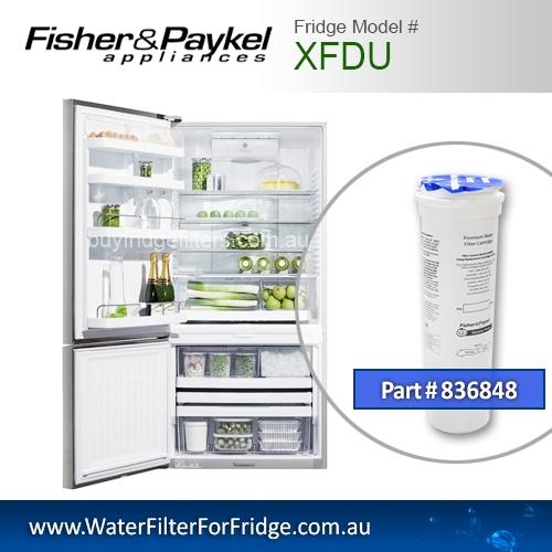 Fisher & Paykel 836848 for XFDU Genuine Fridge Water Filter