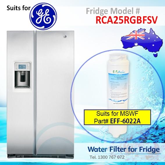 GE RCA25RGBFSV Fridge Model Aqua Blue H2O MSWF Water Filter Compatible Replacement