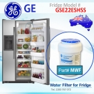REPLACEMENT  FILTER FOR CZS25TSESS GE SmartWater MWF Refrigerator Water Filter