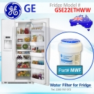 REPLACEMENT FILTER FOR GSE22ETHCC GE SmartWater MWF Refrigerator Water Filter