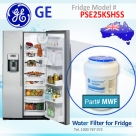 REPLACEMENT FILTER FOR PSE25KGHWW GE SmartWater MWF Refrigerator Water Filter