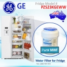 REPLACEMENT FILTER FOR PZS23KGEBB GE SmartWater MWF Refrigerator Water Filter