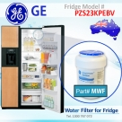 REPLACEMENT FILTER FOR PZS23KGEWW GE SmartWater MWF Refrigerator Water Filter
